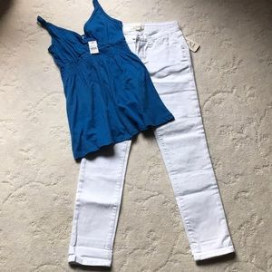 White Skinny Ankle Jeans ONLY, NWT